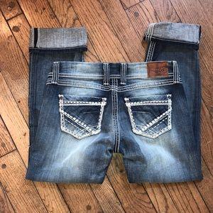 💙🍁Cropped New Jeans Pretty Design BKE denim